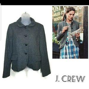 J. Crew Grey 100% Wool Bella Blazer Jacket Size 10